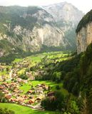 Beautiful Swiss Valley View at Lauterbrunnen Royalty Free Stock Photos