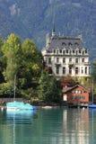 Beautiful Swiss village at Brienz Stock Photos