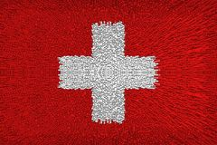 Beautiful Switzerland flag stock illustration