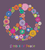 Beautiful symbol of peace. Royalty Free Stock Images