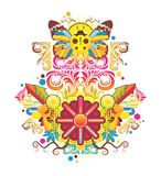 Beautiful symmetric composition with patterns Royalty Free Stock Image