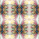 Beautiful symmetrical background from fractal tracery. On white. Royalty Free Stock Photo
