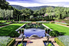 Beautiful symmetrical english style garden Royalty Free Stock Photography