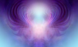 Mesmerising Supernatural Ethereal Being Background. Beautiful symmetrical pink, blue and purple light form depicting a supernatural metaphysical being royalty free illustration