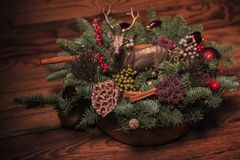 Beautiful table decoration for christmas Stock Image