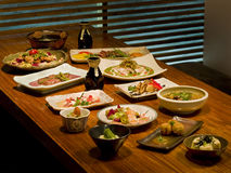 Beautiful table of Japanese food Stock Photography