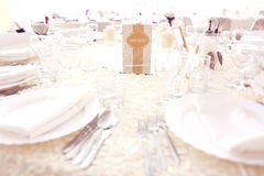 Beautiful table number Stock Photography