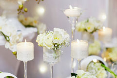 Beautiful table set for an event party or wedding reception Royalty Free Stock Image