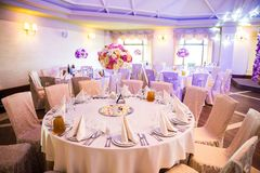 Beautiful table set for some festive event, party or wedding rec. Eption Stock Photography