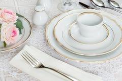 Beautiful table setting Royalty Free Stock Image