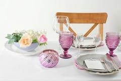 Beautiful table setting with   cutlery. Beautiful table setting with silver cutlery Stock Image