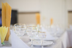 Beautiful table setting in a five star hotel. Stock Images