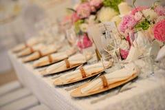 Beautiful table setting Stock Photos