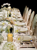 Beautiful table setting Stock Photography