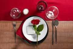 Beautiful table setting with   cutlery. Beautiful table setting with silver cutlery Royalty Free Stock Images