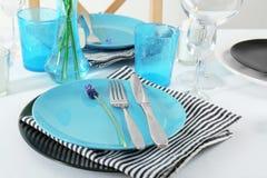 Beautiful table setting with cutlery. Beautiful table setting with silver cutlery Stock Images