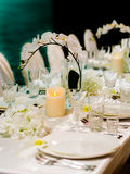 Beautiful table setting for weddin Royalty Free Stock Photos