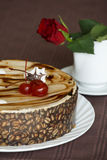 Beautiful table with sweets coffee cake Royalty Free Stock Image