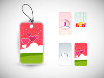 Beautiful tag for Happy Valentines Day celebration. Royalty Free Stock Photo