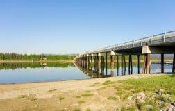 The beautiful tagish river in the yukon territories Royalty Free Stock Image