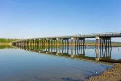 The beautiful tagish river in the yukon territories Stock Image