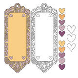Beautiful tags or labels and hearts Royalty Free Stock Photography