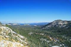 Beautiful Tahoe mountains in winter Stock Photo