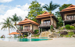 Beautiful Tai bungalow with a swimming pool Royalty Free Stock Photography