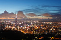 Beautiful Taipei sunset scene Stock Photo