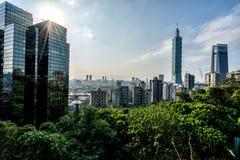 Beautiful Taipei, Taiwan. At sunset.  Asia stock photo