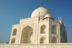 Beautiful Taj Mahal in Agra  - famous landmark in Uttar Pradesh, India Royalty Free Stock Photos