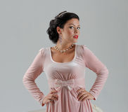 Beautiful tan woman posing Royalty Free Stock Photo