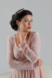 Beautiful tan woman posing Royalty Free Stock Images