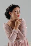 Beautiful tan woman posing Stock Photos