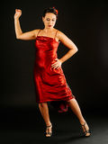 Beautiful tango dancer. Photo of a beautiful woman performing tango dance moves Stock Photo