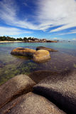 Beautiful Tanjung Tinggi beach Belitong. Beautiful Tanjung Tinggi beach, Belitong Indonesia Stock Image