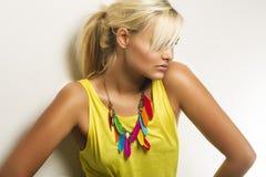 Beautiful tanned blond woman Stock Image