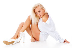 Beautiful tanned blonde Stock Photography