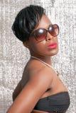 Beautiful tanned woman Stock Photo