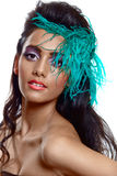 Beautiful tanned woman Royalty Free Stock Photos