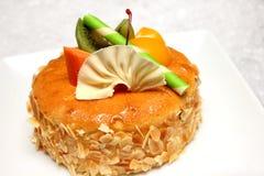 Beautiful and tasty almond cake Royalty Free Stock Photo