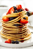 Beautiful Tasty Appetizing Stack Pile of Pancakes with Fresh Sum Stock Image