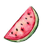 Beautiful Tasty Appetizing Watermelon Slice with Red Juicy Flesh Stock Photography