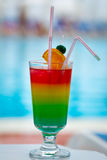 Beautiful tasty cocktail with a straw Stock Photos