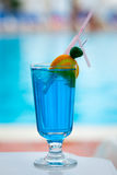 Beautiful tasty cocktail with a straw Royalty Free Stock Photos