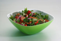Beautiful and tasty green salad stock images