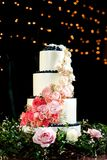 Beautiful and tasty wedding cake royalty free stock image