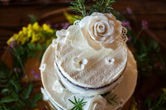 Beautiful and tasty wedding cake. Stock Photography