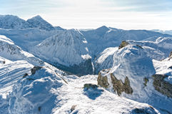 Beautiful Tatra Mountains in winter. Stock Photo