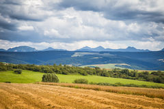 A beautiful Tatry mountain landscape. In summer stock image